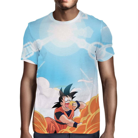 Dragon Ball Goku Eating Unlimited Funny Design T-Shirt