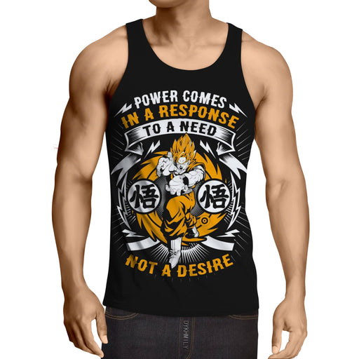 Dragon Ball Goku Kamehameha Famous Quotes Design Tank Top