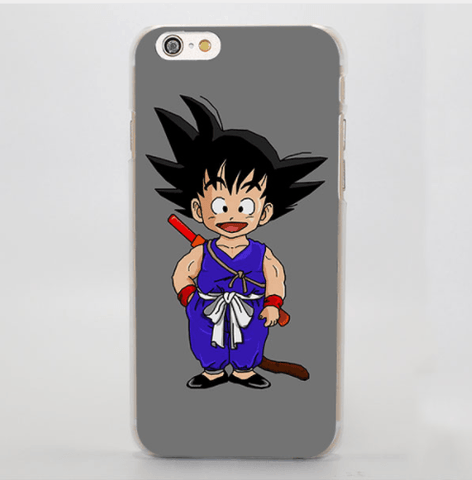 Dragon Ball Goku Kid Cute Anime Sketch Character Simple iPhone 4 5 6 7 Plus Case