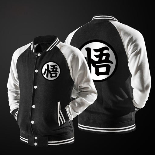 Dragon Ball Goku Mandarin Collar Black Autumn Baseball Varsity Jacket - Saiyan Stuff
