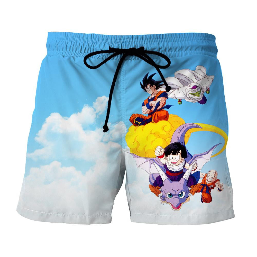 Dragon Ball Goku Piccolo Gohan Krillin Bright Color Summer Shorts