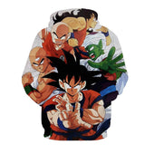 Dragon Ball Goku Piccolo Krillin Heroes Group Awesome Design Hoodie