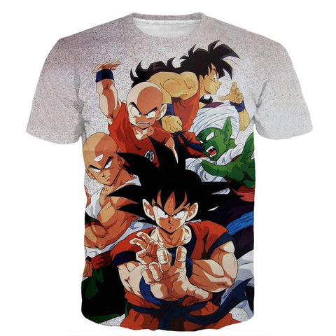 Dragon Ball Goku Piccolo Krillin Heroes Group Awesome Design T-Shirt