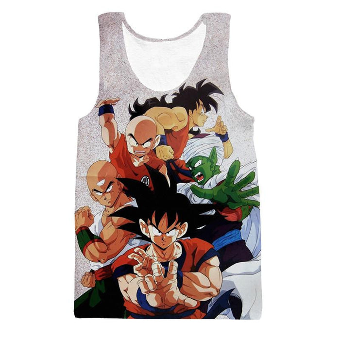 Dragon Ball Goku Piccolo Krillin Heroes Group Awesome Design Tank Top