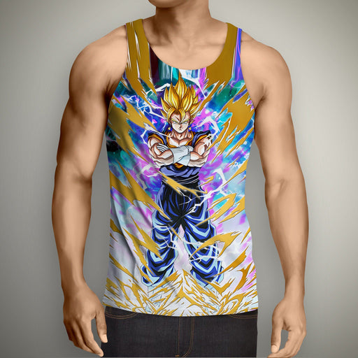 Dragon Ball Goku Power Aura Thunder Earing Super Saiyan Tank Top