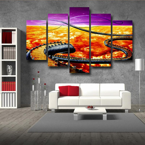 Dragon Ball Goku Run Snake Way Running 5pc Wall Art Decor Posters Canvas Print