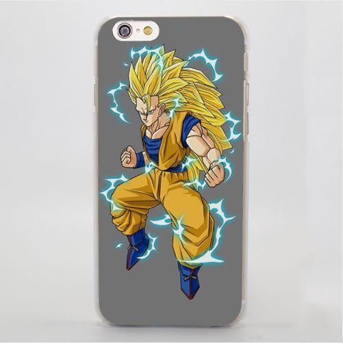 Dragon Ball Goku SSJ3 Power Aura Cool Design Design iPhone 4 5 6 7 Plus Case