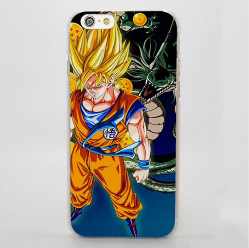 Dragon Ball Goku SSJ Shenron Impressive Style Art iPhone 4 5 6 7 Plus Case