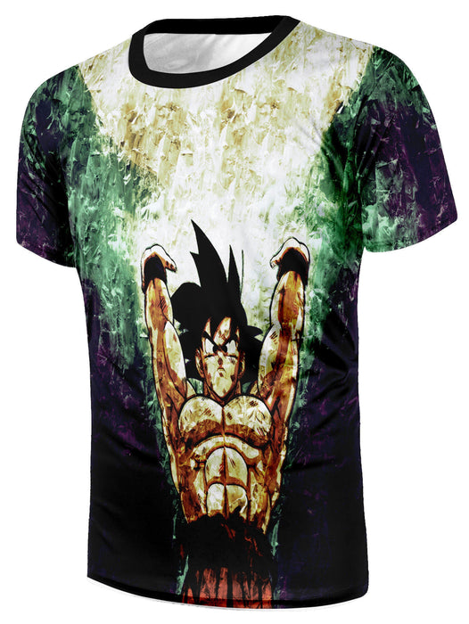 Dragon Ball Goku  Spirit Bomb Destruction Skill Streetwear Design T-Shirt