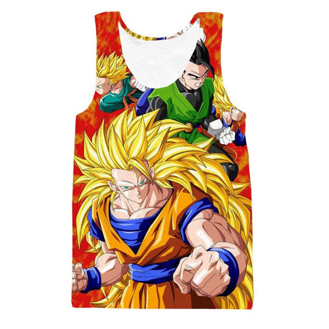 Dragon Ball Goku Super Saiyan 3 Power Hero Trending Design Tank Top