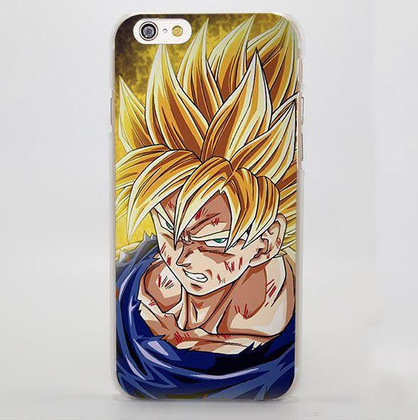 Dragon Ball Goku Super Saiyan Damage Fight iPhone 4 5 6 7 Plus Case