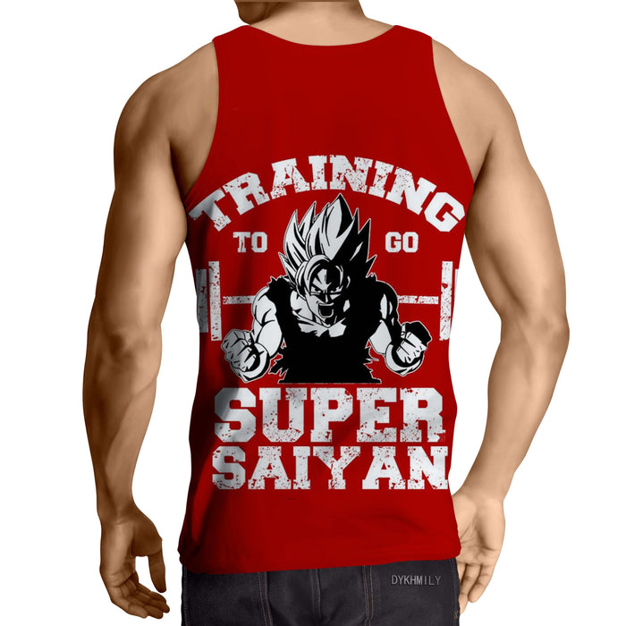 Dragon Ball Goku Super Saiyan Gym Training Motivation Tank Top