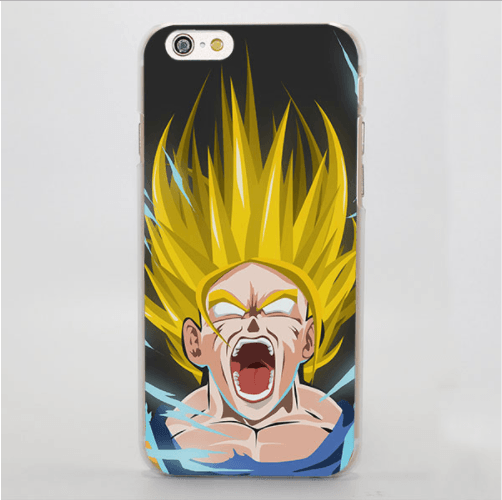 Dragon Ball Goku Super Saiyan Hand Drawing Iphone 4 5 6 7 Plus Case