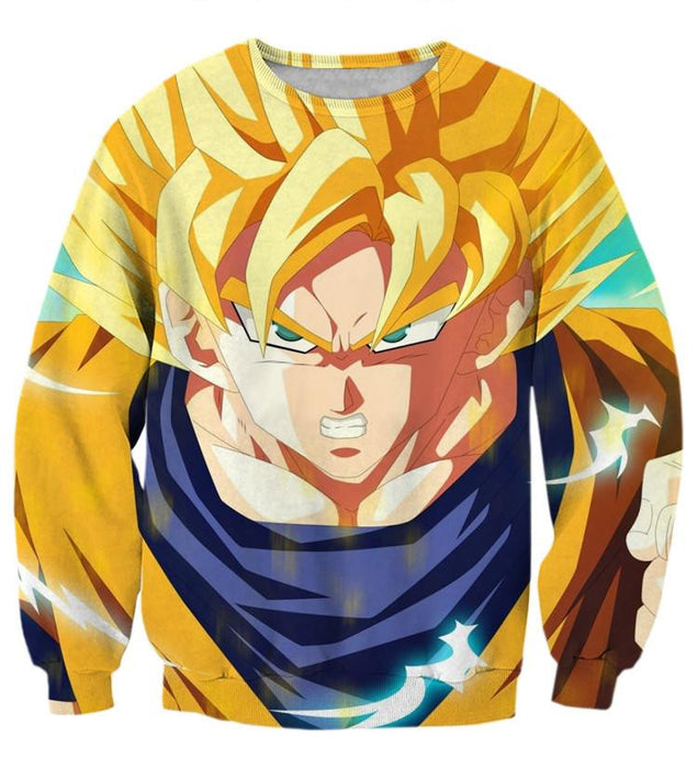 Dragon Ball Goku Super Saiyan Hero Thunder Design Street Style Sweatshirt