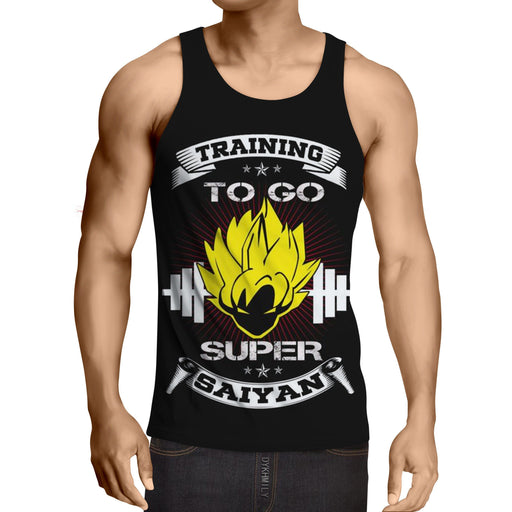Dragon Ball Goku Super Saiyan Icon Gym Motivation Tank Top