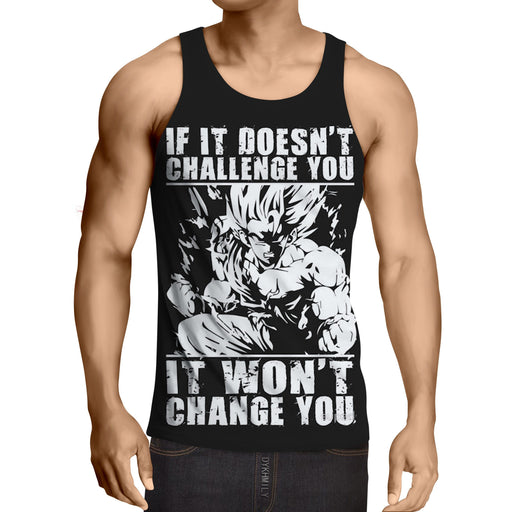 Dragon Ball Goku Super Saiyan  Motivation Quotes Tank Top