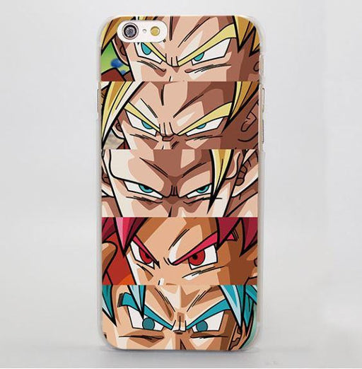 Dragon Ball Goku Super Saiyan Portrait Cartoon Art  iPhone 4 5 6 7 Plus Case