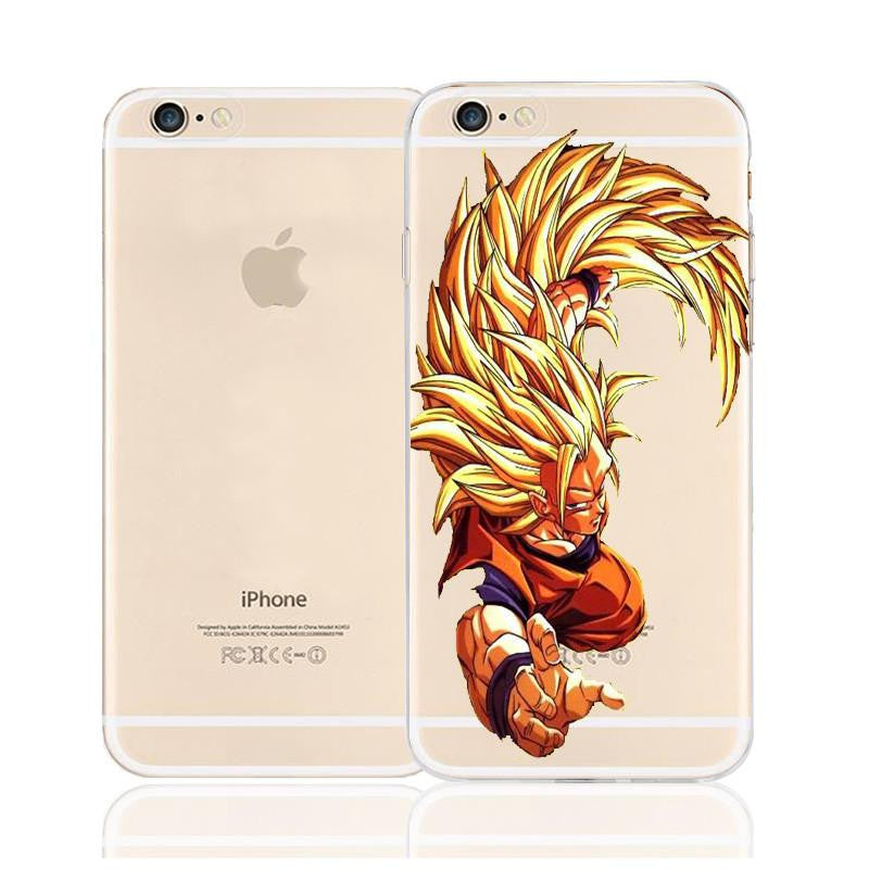 Dragon Ball Goku Super Saiyan SSJ3 Long Hair Character Back Cover for iPhone 6 6s Plus