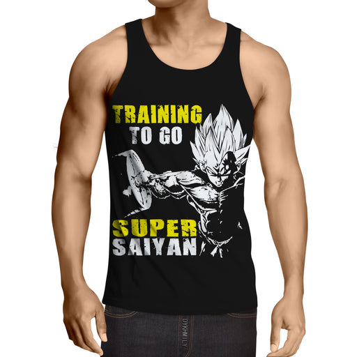 Dragon Ball Goku Super Saiyan Training Motivation Tank Top
