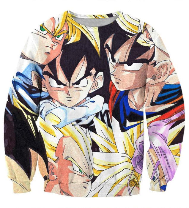 Dragon Ball Goku Vegeta Trunks Gohan Super Saiyan Cool Trending Design Sweatshirt