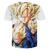 Dragon Ball Goku Vegeta Trunks Super Saiyan Power Heroes Cool Trending Design T-Shirt