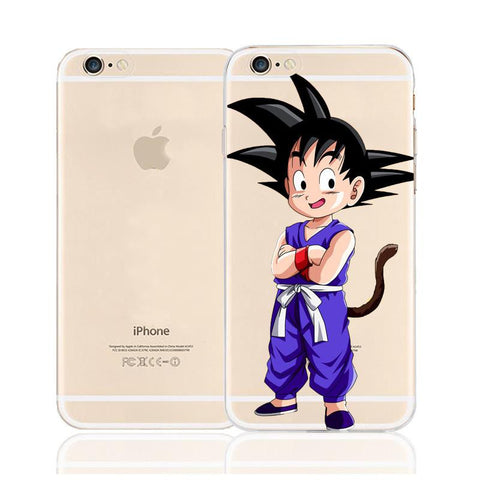 Dragon Ball Goten Cute Saiyan Kid Character Back Cover for iPhone 6 6s Plus