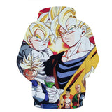 Dragon Ball Heroes Group Saiyan Human Cool Streetwear Design Hoodie