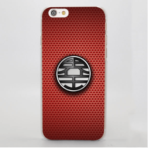 Dragon Ball King Kai Symbol Simple Red Background iPhone 4 5 6 7 Plus Case
