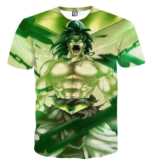 Dragon Ball Legendary Super Saiyan Broly 3D Full Print Streetwear Design T-Shirt