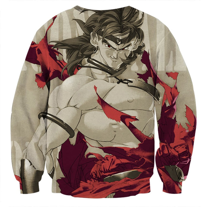 Dragon Ball Legendary Super Saiyan Broly Dope Gray Sweater