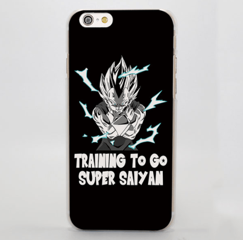 Dragon Ball Majin Vegeta Training Motivation Black White iPhone 4 5 6 7 Plus Case