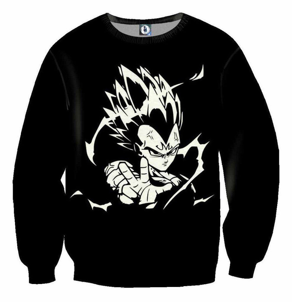 Dragon ball majin vegeta villain black white edition dope sweatshirt saiyan stuff