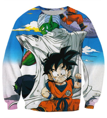 Dragon Ball Master Piccolo Kid Gohan Cute Fun Design Street Style Sweatshirt