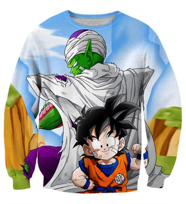 Dragon Ball Master Piccolo Train Cute Gohan Kid Funny Trending Sweatshirt