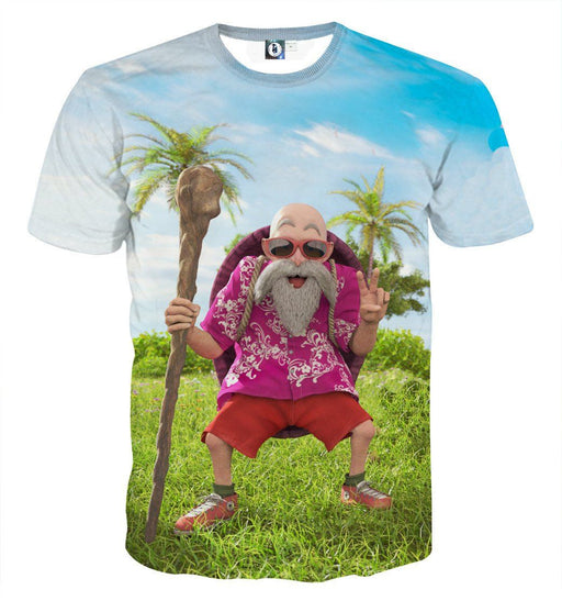 Dragon Ball Master Roshi Realistic Style Graphic Cool T-Shirt