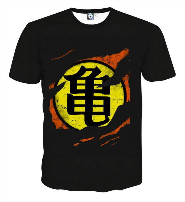 Dragon Ball Master Roshi Symbol Kanji Japanese Cool Design T Shirt