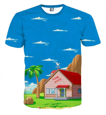 Dragon Ball Master Roshi's Kame House Cartoon Style T-Shirt