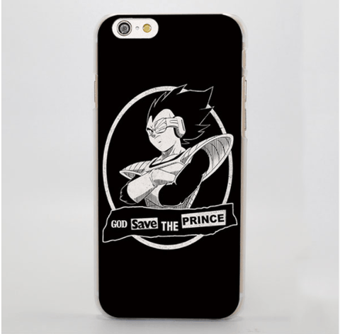 Dragon Ball Parody God Save Vegeta Funny Simple iPhone 4 5 6 7 Plus Case