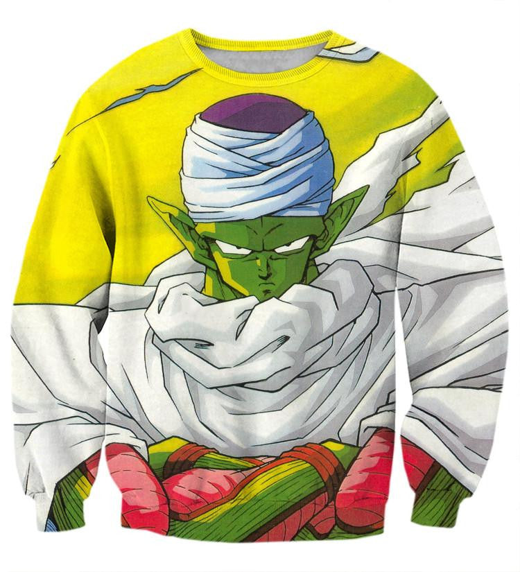 Dragon Ball Piccolo Namekian Evil King Cape Cool Design Streetwear Sweatshirt
