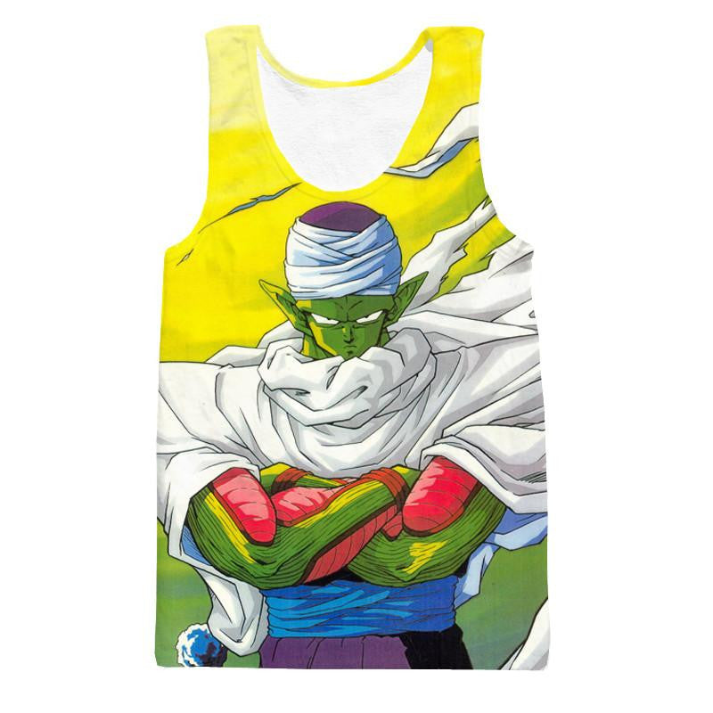 Dragon Ball Piccolo Namekian Evil King Cape Cool Design Streetwear Tank Top