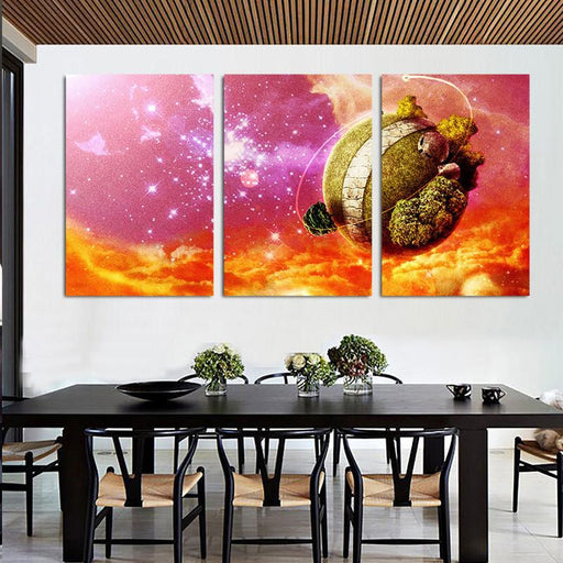 Dragon Ball Planet Color Theme 3pc Wall Art Decor Posters Canvas Prints