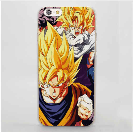 Dragon Ball SS2 Angry Goku Gohan Manga Theme iPhone 4 5 6 7 8 Plus X Case