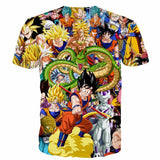 Dragon Ball Super Characters Heroes Goku Shenron Graphic 3D T- Shirt - Saiyan Stuff