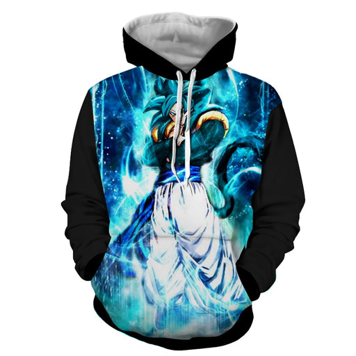 Dragon Ball Super Goku 4 Blue Super Saiyan Kaioken Hoodie