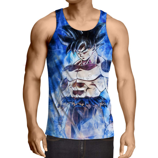 Dragon Ball Super Goku Ultra Instinct Blue Kaioken Tank Top