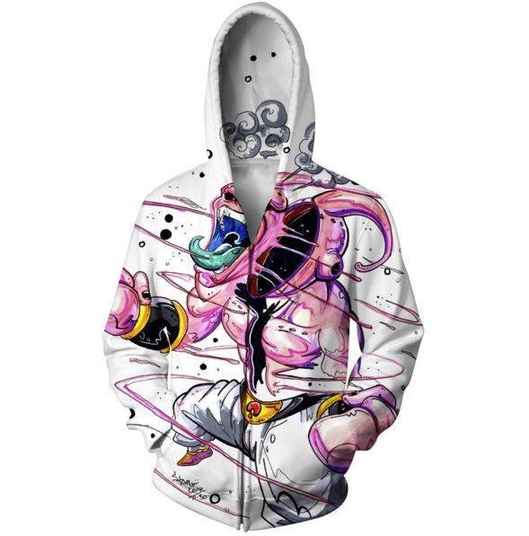 Dragon Ball Super Mad Kid Buu Graffiti Style Hoodie - Saiyan Stuff - 1