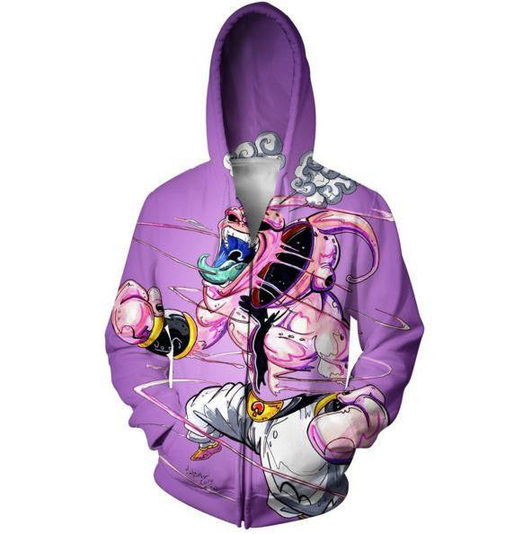 Dragon Ball Super Mad Kid Buu Graffiti Style Hoodie - Saiyan Stuff - 3