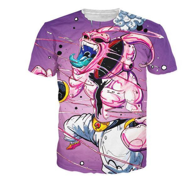 Dragon Ball Super Mad Kid Buu Graffiti Style T Shirt