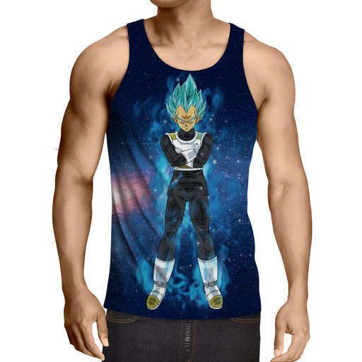 Dragon Ball Super Pissed Vegeta Blue Dope Universe Tank Top