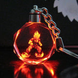Dragon Ball Super Saiyan Goku Crystal LED Flash Color Keychain Pendant - Saiyan Stuff - 3